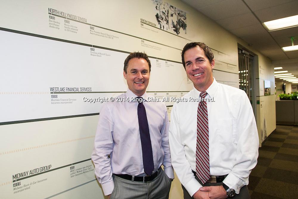 Ian Anderson, right, and Paul Kerwin of Westlake Financial.<br /> (Photo by Ringo Chiu/PHOTOFORMULA.com)