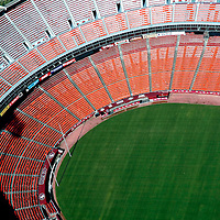Aerial view of San Francisco 49ers Candlestick Park Aerial views of artistic patterns in the earth.