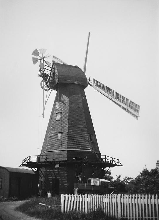 18th Century Windmill near Herne, Kent, England, 1932
