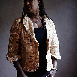"""Joan Belgrave, singer for """"Tribe"""" from Detroit, the day they were playing at the occasion of Jazz a la Villette. Paris, France. 10 September 2009. Photo: Antoine Doyen for Vibrations"""