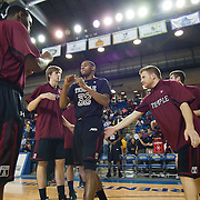 12/30/11 Newark DE: Temple Junior Forward #32 Rahlir Hollis-Jefferson being introduced prior to a NCAA basketball game against Delaware Friday, Dec. 30, 2011 at the Bob carpenter center in Newark Delaware.<br /> <br /> Rahlir Jefferson-Hollis led the Owls with 13 points and eight rebounds, Anthony Lee added a career-high 12 points, seven rebounds, and three blocks, Juan Fernandez contributed 11 points, and Ramone Moore chipped in with 10 points and a game-high six assists.