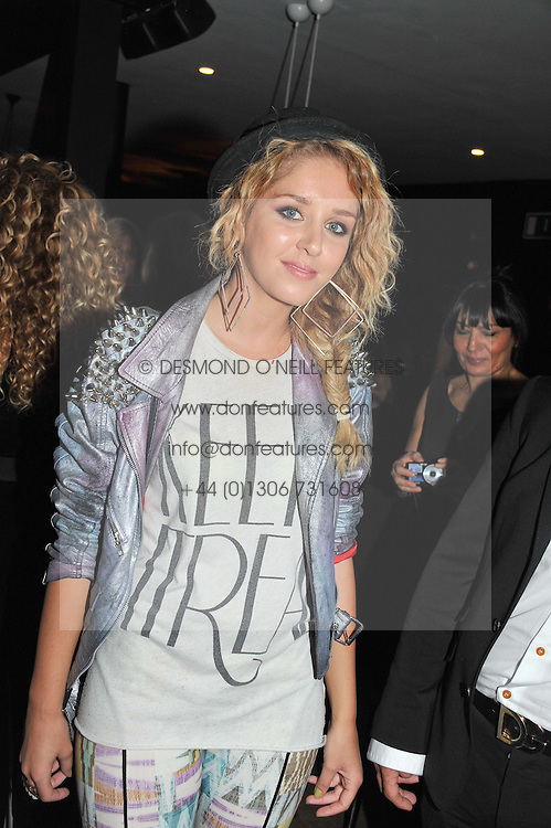Dutch singer ESMEE DENTERS at a party to celebrate the Kelly Hoppen and Smallbone kitchen range held at The Collection, 264 Brompton Road, London on 24th September 2012.