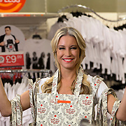 Photo &copy; Joel Chant / www.joelchant.com<br /> Denise Van Outen filming at TK Maxx, South Kensington, for Comic Relief