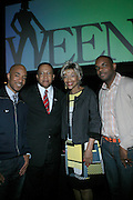 Datwon Thomas, Dr. Benjamin Chavis, Linda Hudson. and Jermaine Hall at The Women in Entertainment Empowerment Network (WEEN) Signature, Fundraising series VIPink with An Exclusive Performance by Grammy Winning Super Producer/Songwriter Bryan-Michael Cox at the Boucarou Lounge on April 30. 2008.