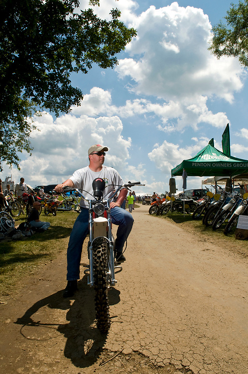 Stephen Markley at Vintage Motorcycle Days 2010 for American Motorcyclist