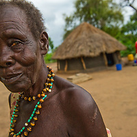 Elder in the Sudanese village of Magi where a new well has made life easier for the residents.