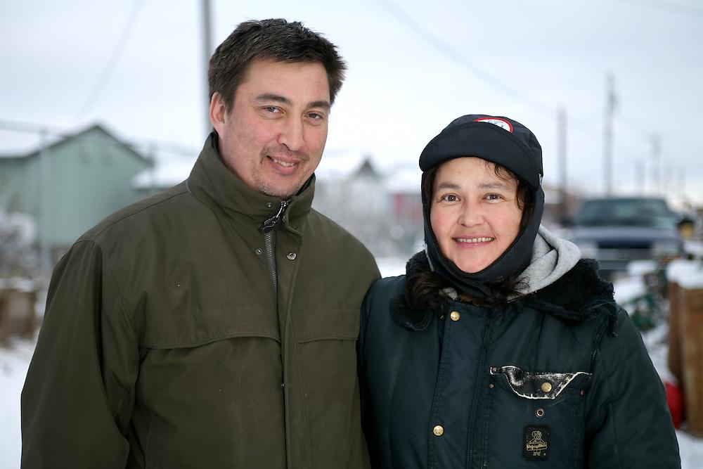 KOTZEBUE - OCTOBER 28 2009. John and wife, Iva Baker at their home in Kotzebue, Alaska.