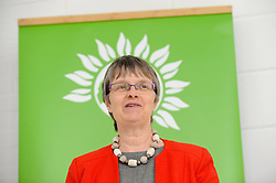 © Licensed to London News Pictures. 02/05/2017. London, UK. Molly Scott Cato, MEP and Green party candidate for Britsol West speaks at the Green Party launch of their Brexit policy in Hackney. Photo credit : Stephen Chung/LNP