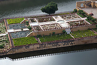 "Kesar Kyari Bagh on Maota Lake is part of the Amber Fort complex and was created  for the women of the harem to admire from above.  The name means ""saffron growing garden""  originally it was this plant that grew in this location. It is also called Maunbari garden."