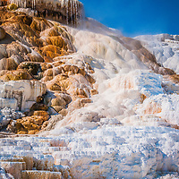 Hot spring terraces in Yellowstone national park