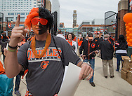 Fans file onto Eutaw Street during opening day at Oriole Park at Camden Yards in Baltimore, Monday, April 4, 2016.  The Baltimore Orioles defeated the Minnesota Twins 3-2.