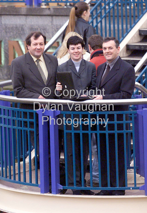 5/1/98 SUNDAY BUSINESS POST.PICTURED IN MARKET CROSS IN KILKENNY WAS FROM LEFT MARION O NEILL PROJECT MANAGER WITH KILKENNY INFORMATION AGE,TONY WALSH C.A.O COUNTY ENTERPRISE BOARD AND JOHN MCGUINESS T.D CHAIRMAN OF THE KILKENNY INFORMATION AGE.PCTURE DYLAN VAUGHAN.