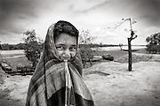 A local climate refuge who survived when Cyclone Aila hit the coastal belt. Image © Mohammad Rakibul Hasan/Falcon Photo Agency