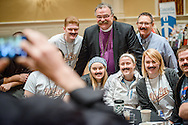 The Rev. Dr. Matthew C. Harrison, president of The Lutheran Church–Missouri Synod, joins a group photograph during the Liberty National LCMS Campus Ministry Conference on Wednesday, Jan. 4, 2017, at the University of Maryland in College Park, Md. LCMS Communications/Erik M. Lunsford