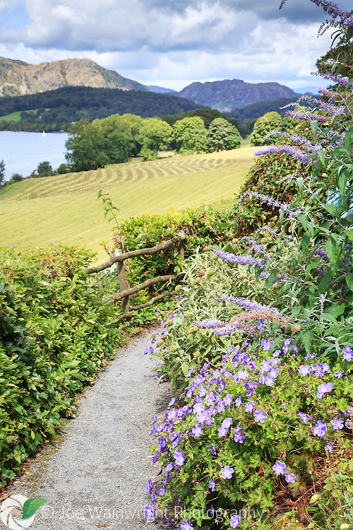 The view from the gardens at Brantwood, Cumbria, over Coniston Water. This was the home of John Ruskin, the Victorian art critic and polymath.
