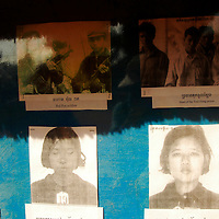 Local museum in Siem Reap, Cambodia with pictures of victims of Pol Pot's brutality during the reign of the Khmer Rouge. The mass executions happened in the 1970s in Cambodia.