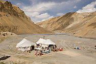 """Every few hundred kilometers, there was a """"rest stop"""" with tents to rest in, and a few basic refreshments."""