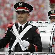 "COLUMBUS, OH - November 18: The Ohio State Marching Band plays ""Script Ohio"" on October 18, 2006 at Ohio Stadium in Columbus, Ohio before playing The Ohio State Buckeyes take on the Michigan Wolverines. The Buckeyes beat the Wolverines 42-39. Credit: Bryan Rinnert"