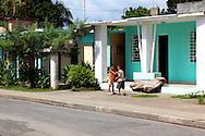 Street in La Maya, Santiago de Cuba, Cuba.