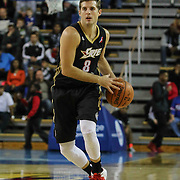 Erie BayHawks Guard Lewis Jackson (8) attempts to pass the ball in the second half of a NBA D-league regular season basketball game between the Delaware 87ers and the Erie BayHawk (Orlando magic) Friday, Jan. 02, 2015 at The Bob Carpenter Sports Convocation Center in Newark, DEL