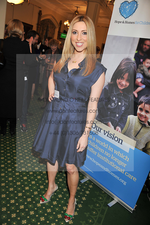 KATE WALSH at a reception for The Mirela Fund in partnership with Hope and Homes for Children hosted by Natalie Pinkham in The Churchill Room, House of Commons, London on 30th April 2013.