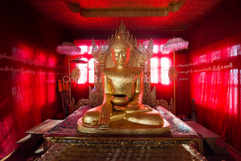 Laquered Bamboo Buddha in Pinmagon Monastery, Kalaw.
