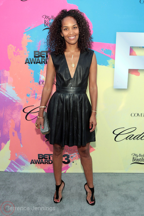 """Los Angeles, CA-June 29:  Producer Mara Brock Akil attends the Seventh Annual """" Pre """" Dinner celebrating BET Awards hosted by BET Network/CEO Debra L. Lee held at Miulk Studios on June 29, 2013 in Los Angeles, CA. © Terrence Jennings"""