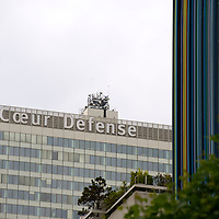 coeur defense building, paris, la defense, moretti art work