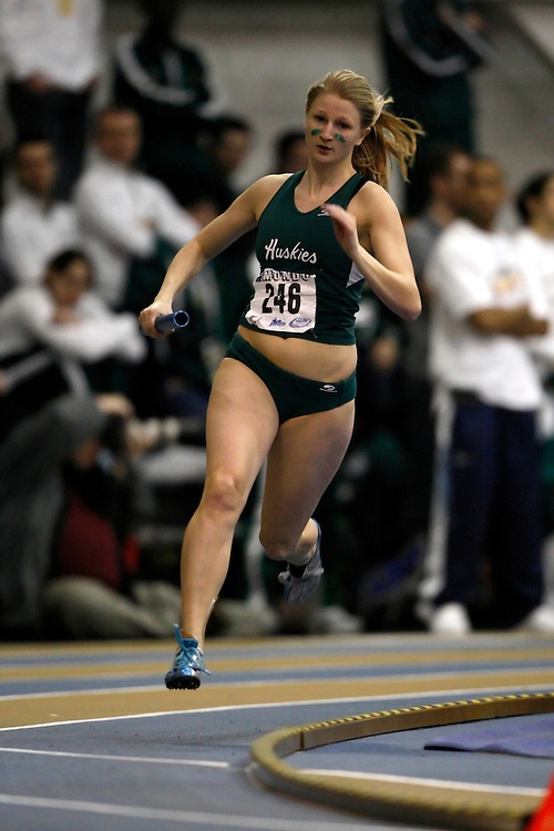 Windsor, Ontario ---14/03/09--- Ashley Gerstmar of  the University of Saskatchewan competes in the 4x400m relay at the CIS track and field championships in Windsor, Ontario, March 14, 2009..Claus Andersen Mundo Sport Images
