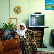 The widow of former chief Ali Yazici in her Diyarbakir apartment