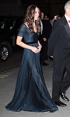 FEB 11 2014 Duchess of Cambridge at National Portrait Gallery