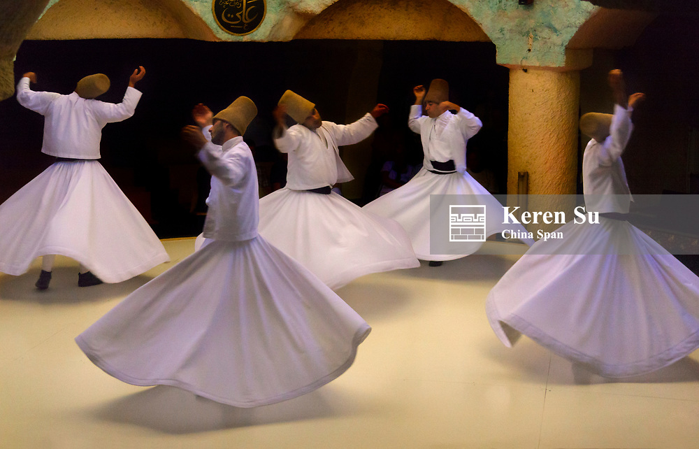 Whirling dervishes dancing, Goreme, Cappadocia, Turkey