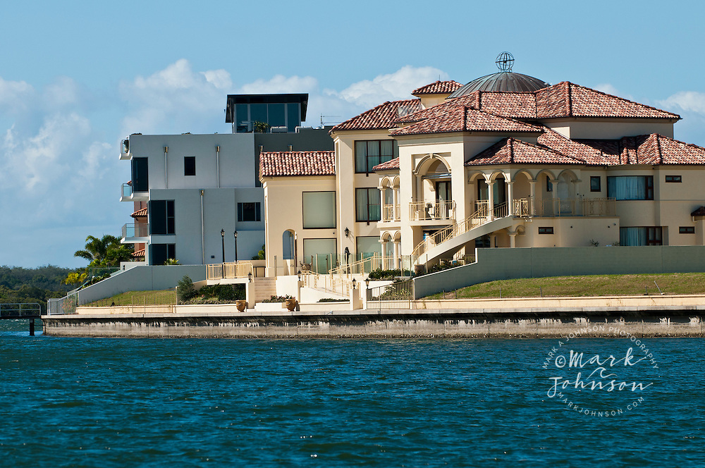 Waterfront homes, Sovereign Islands, Gold Coast, Queensland, Australia