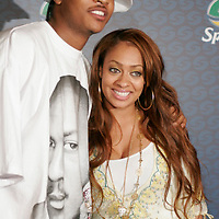 LaLa and Carmelo Anthony at Sprites Street Couture Showcase at Gustavino's on May 23, 2006.
