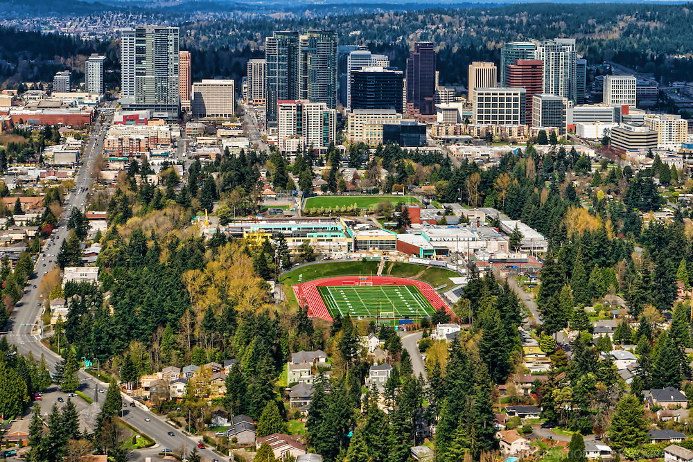 Bellevue High School Campus & Downtown Bellevue