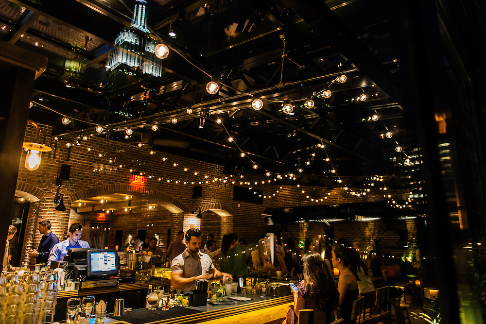 The Refinery Hotel rooftop bar in New York City