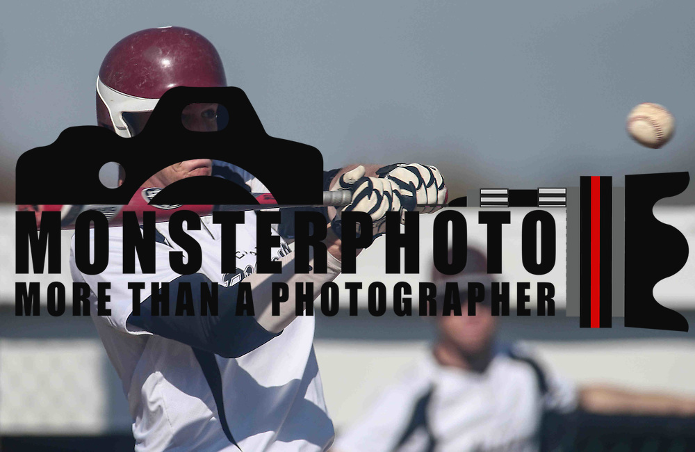 Caravel Academy Catcher Tyler Slavin (18) singles in the sixth inning during a regular season baseball game between the St. Marks Spartans and Caravel Academy at St. Marks Stadium Thursday April 14, 2016 in Wilmington.