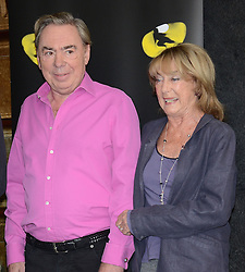 Sir Andrew Lloyd Webber and Gilian Lynne attend Cats Photocall at The London Palladium, Argyll Street, London on Monday 7 July 2014