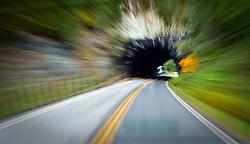 Cowlitz Tunnel motion blur, Mount Rainier National Park, Washington, USA