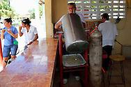Pizza stand in San Juan y Martinez, Pinar del Rio, Cuba.