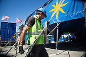 Circus Vargas Tent Preparation in Milpitas, California