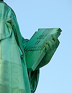 Staue of Liberty Holding Tablet July 4,1776 Day of American Independence