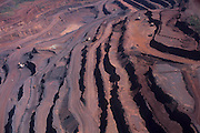 Aerial view of Carajas iron mine, Para State, Brazil, South America