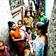 KG has being beaten up by her husband since they got married. She is scared of him. He beats his children as well. she doesn't know how to get out of that, she tried many times but he always found her. The police doesn't do anything to help her and everytime he is arrested, he is freed the same night. Her family keeps telling her that it is her fault if he beats her up, it's the way she behaves with him. KG works as a women counselor helping those who are suffering from domestic violence inside her community in the slum of Dahravi, Mumbai.