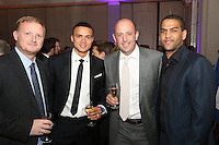 The Football Extravaganza celebrating 20 years of the Premier League, in aid of Nordoff Robbins. From Left David May, Jermaine Jenas, Gary McAllister & Phil Babb.Wednesday, April.11, 2012 (Photo/John Marshall JME)