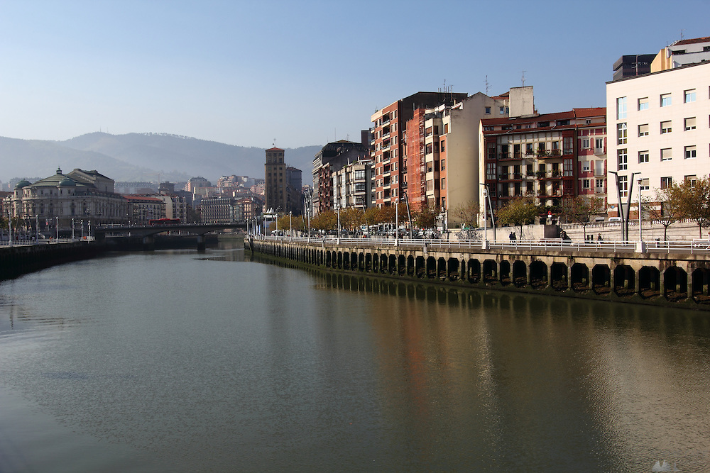 A hazy but sunny October morning in Bilbao