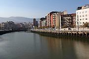 A hazy but sunny October morning in Bilbao