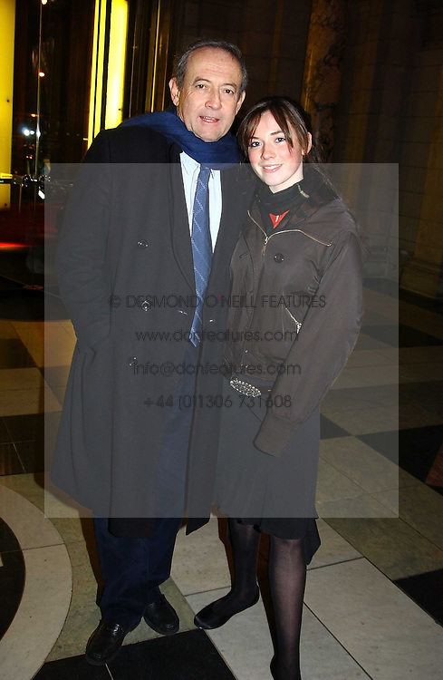 DAN TOPOLSKI and his daughter TAMSIN TOPOLSKI at a party to launch 'Beauty Week' at the V&amp;A in association with Estee Lauder- a special week of debates, talks and performances celebrating beauty on 24th January 2005.<br />
