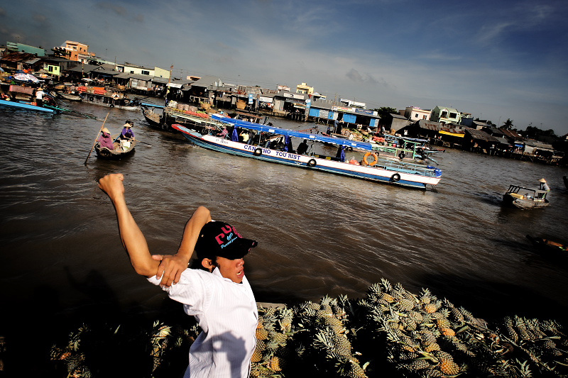 Mekong delta. The water trade is not satisfy the young people.