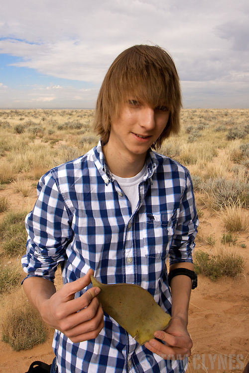 Taylor Wilson with a radioactive bomb shard he found in a field near Albuquerque, New Mexico, where the air force accidentally dropped a hydrogen bomb in 1957. Taylor Wilson is the youngest individual on Earth to have achieved a nuclear fusion reaction..